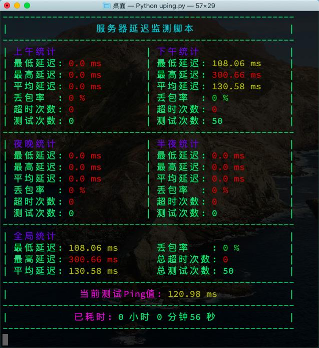 Uping 全天监测服务器ping值延迟脚本