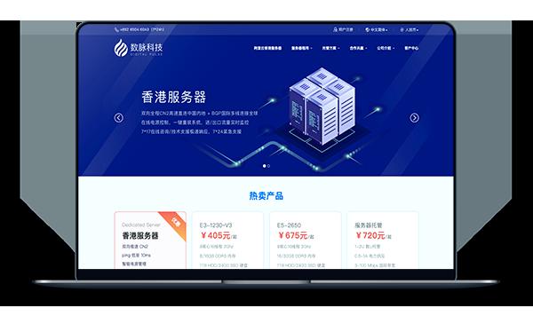 数脉科技 - 香港CN2+BGP 带宽10M 月付432元-A17主机网
