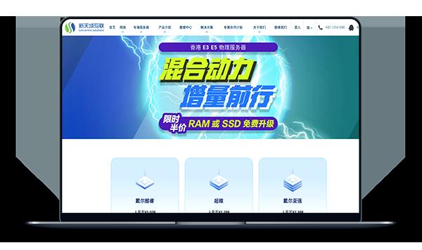 新天域互联 - 香港独服 100M带宽 首月100元-A17主机网