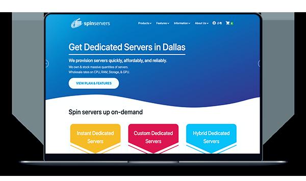SpinServers - 达拉斯 带宽10G 月付139美元-A17主机网