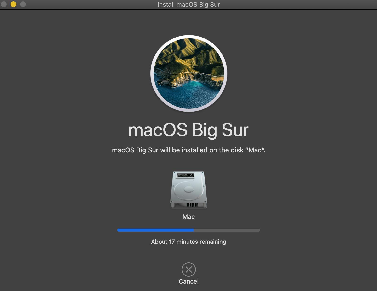 2012 macbook pro 升级bigsur