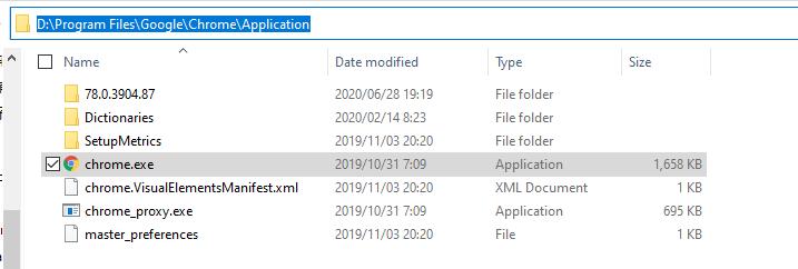 Chrome的安装目录