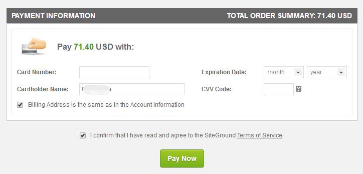 Siteground选择 GrowBig 方案