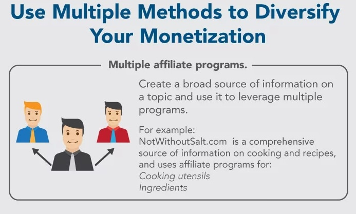 affiliate networks and monetization methods.