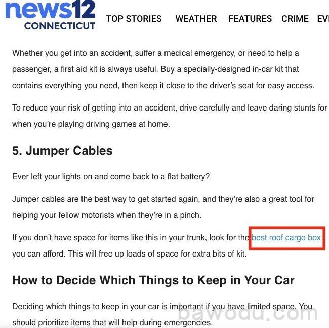an example of a keyword as anchor text