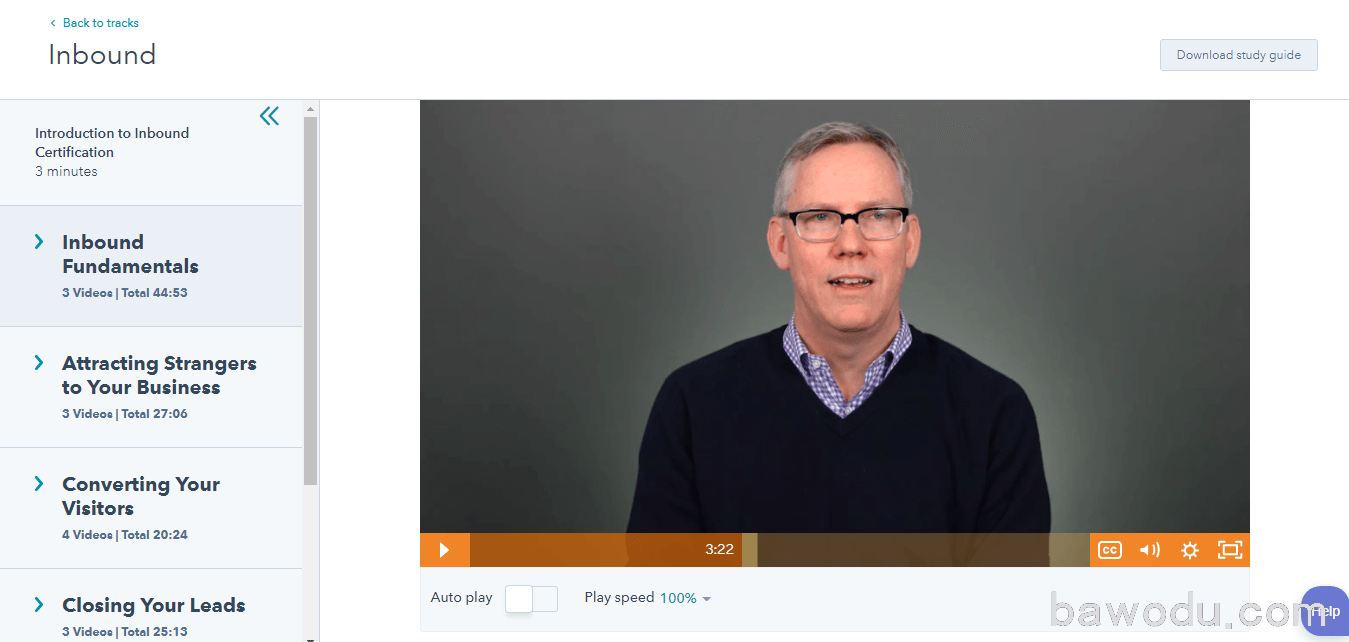 HubSpot Academy High-quality Video Lessons