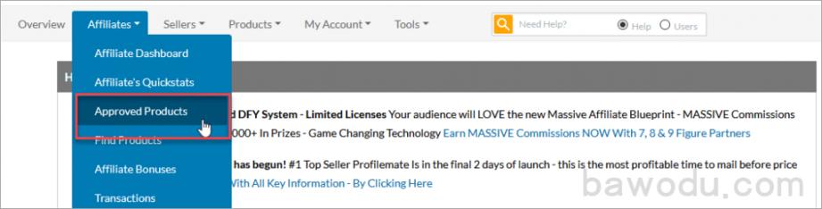 创建你的affiliate链接