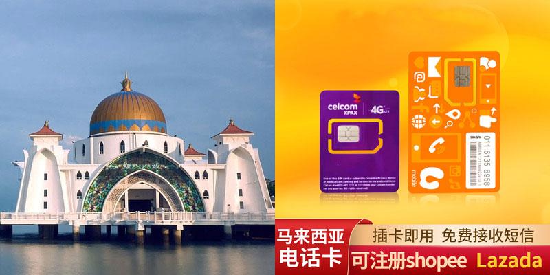 马来西亚电话卡号码接收验证短信的注册卡