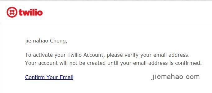 Twilio注册