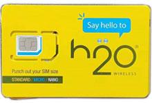 资费超低的美国实体电话卡H2O