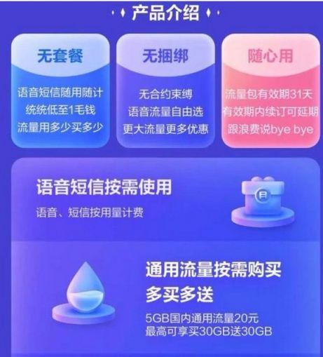 """中国电信""""青年一派""""纯0月租卡"""