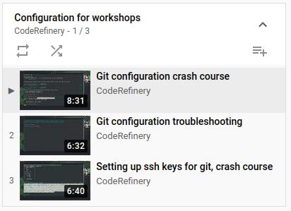 configuration videos