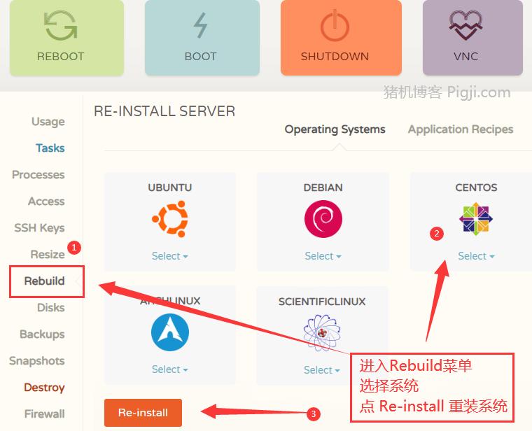 cloudcone如何重装系统