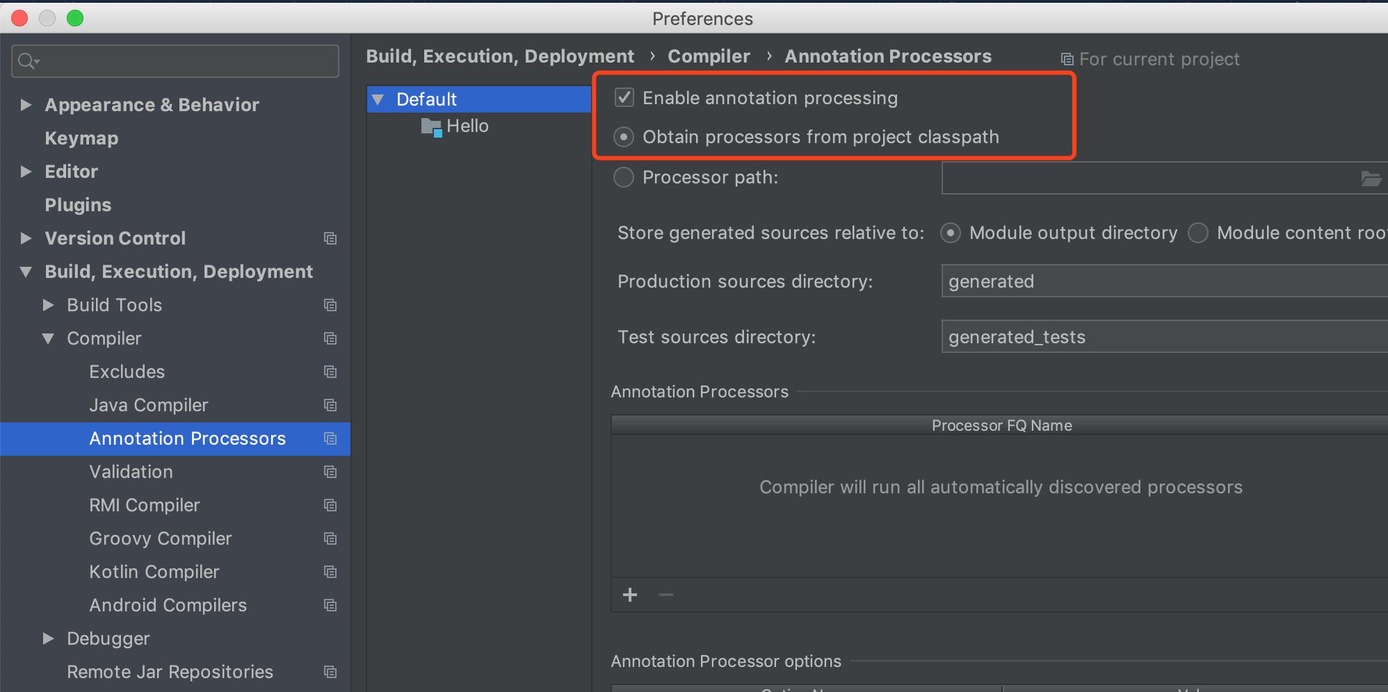 配置IDE,启用Annotation Processing