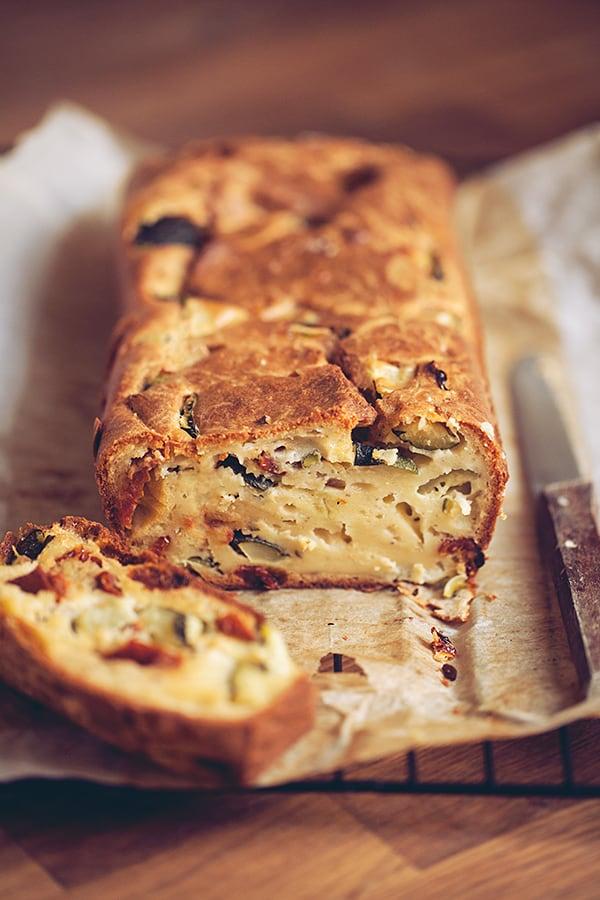 Cake Au Courgette Et Tomate S Ef Bf Bdch Ef Bf Bde