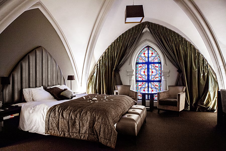 Dormir dans une église, chambre Great - L'hôtel Saint Martin's Patershof à Malines (Mechelen) // Belgique