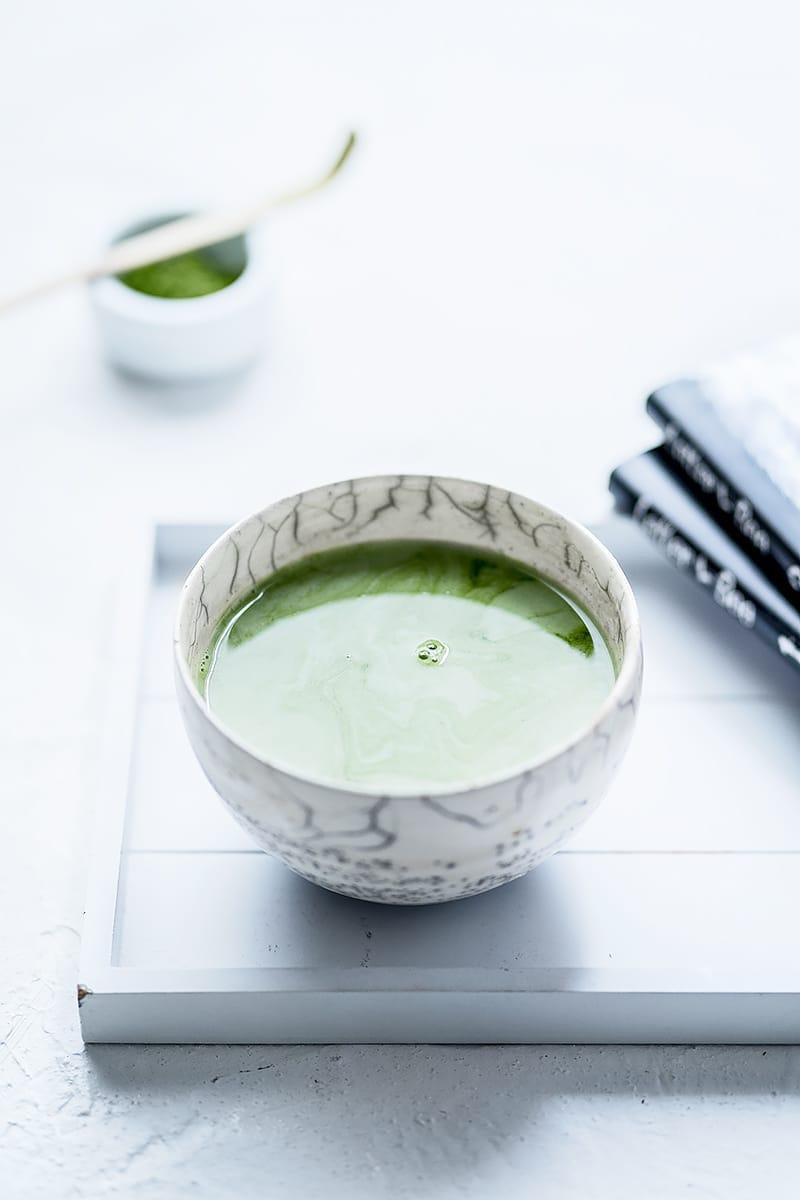 Latte matcha végétal, une boisson cocoon