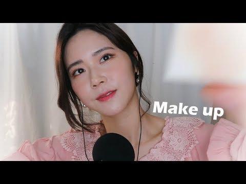 ASMR朋友给你化粉色妆容Pink Makeup RP-瞌睡熊ASMR