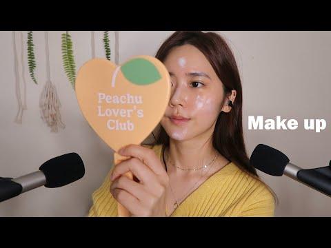ASMR(SUB)直接在我脸上化妆(feat.聊天)Doing my makeup-)Get ready with me-瞌睡熊ASMR