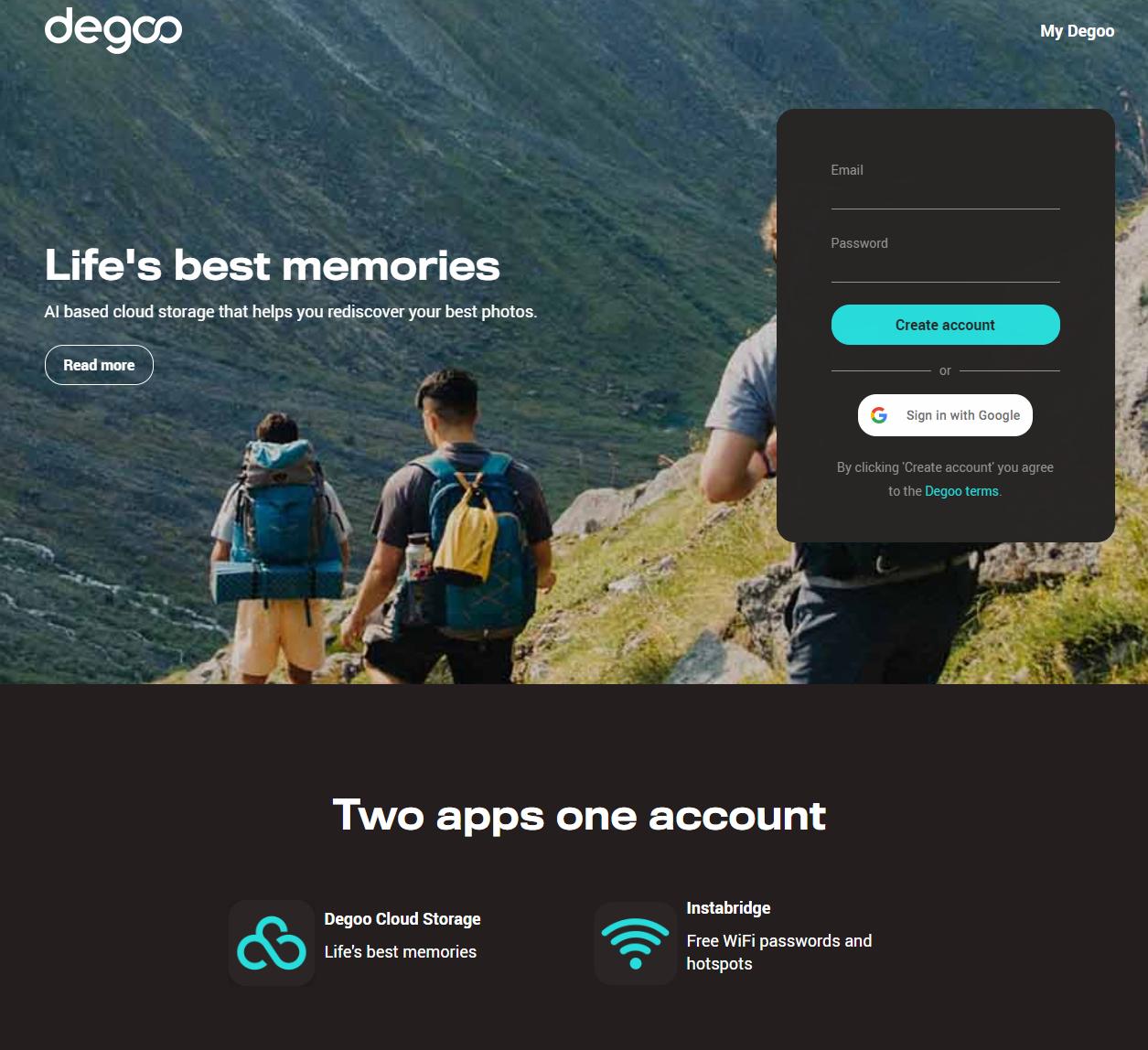 瑞士网盘degoo的免费100G网盘的2个注意事项
