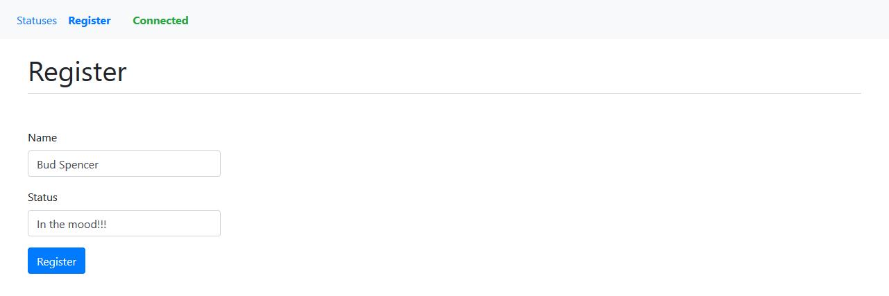 Ethereum VueJS dApp - Register page