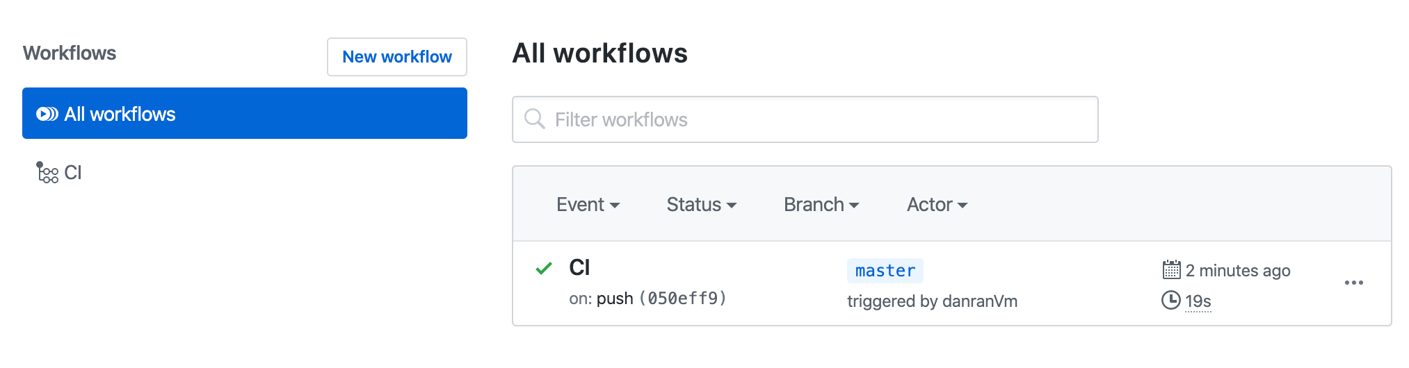 All workflows