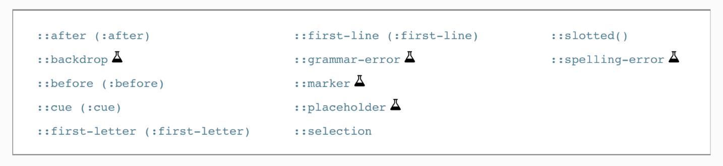【学习笔记】css伪类选择器,伪元素选择器基础知识点复习