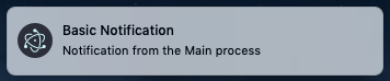 Notification in the Main process