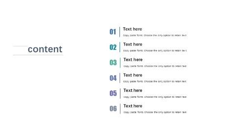 极致简洁PPT目录页模板