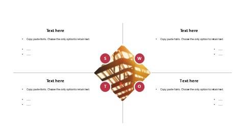 图片填充SWOT分析报告PPT模板