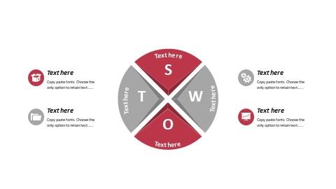 圆形排列SWOT分析报告PPT模板