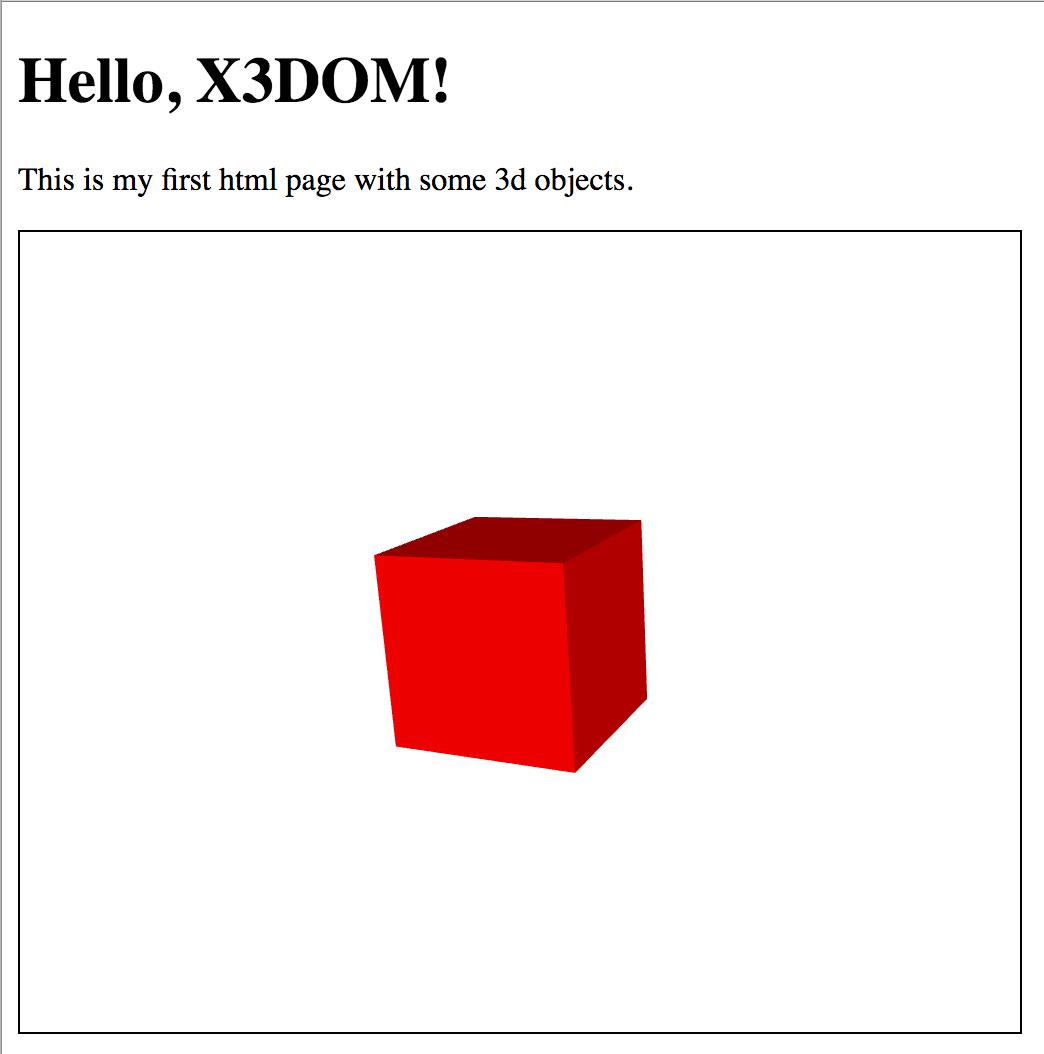 HelloX3DOM