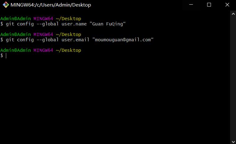 Git 初始化配置