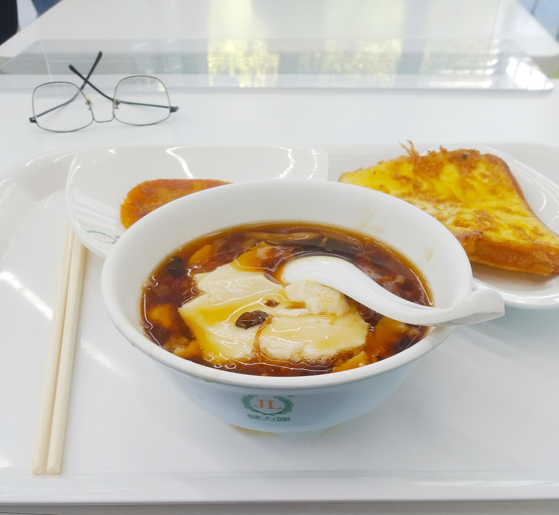 豆腐脑+吐司煎蛋(随便起的名)+南瓜饼