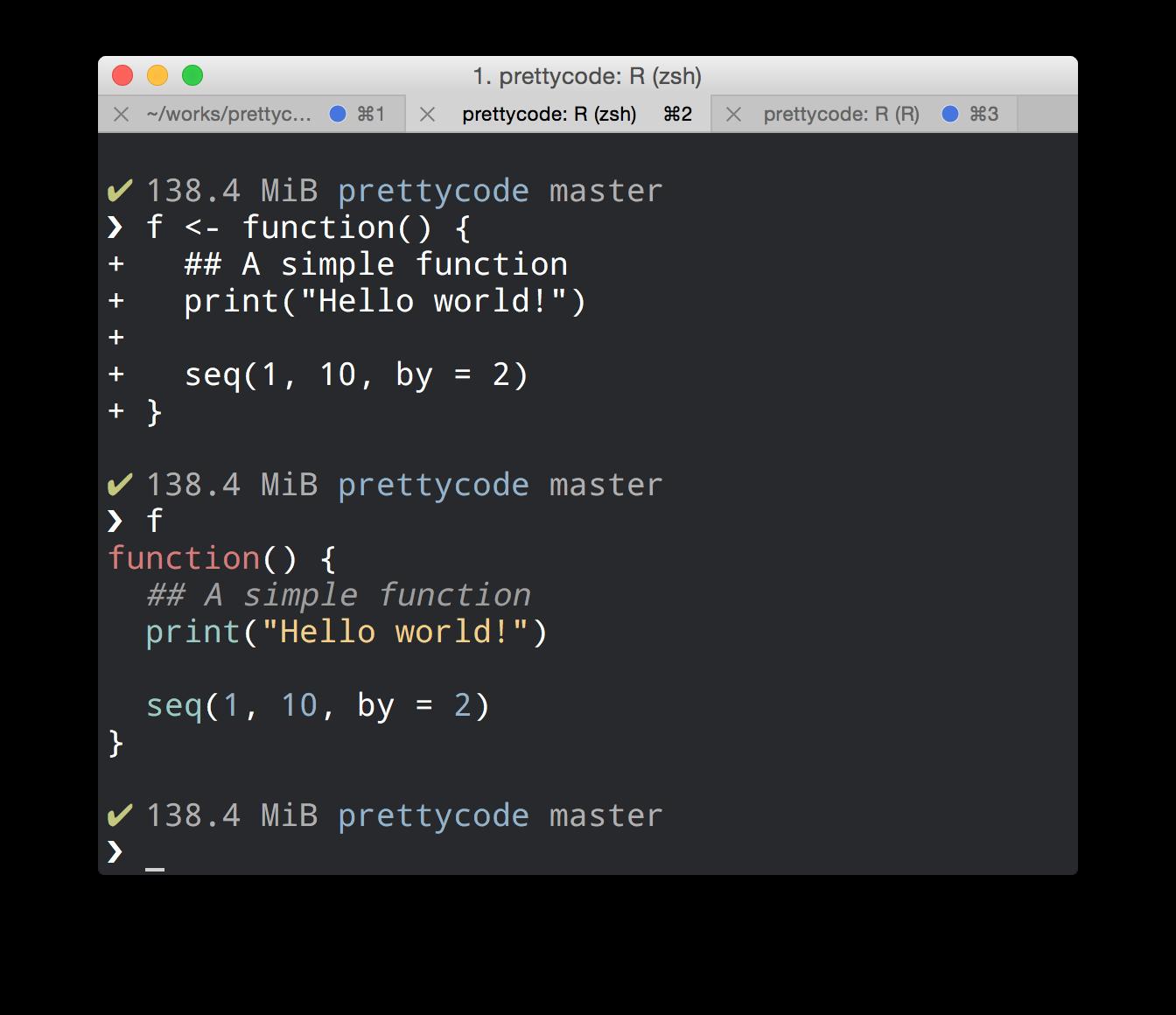 prettycode