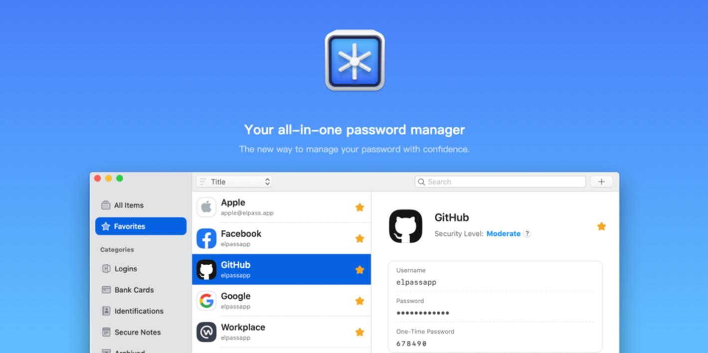 Elpass - macOS & iOS 上的密码管理新选择