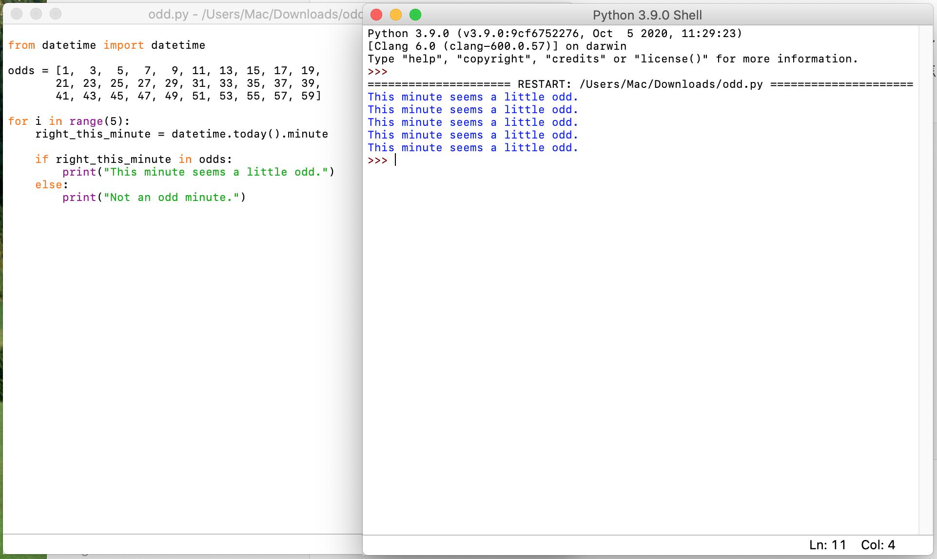 执行结果如下 左边是代码编辑器 右边是代码执行窗口