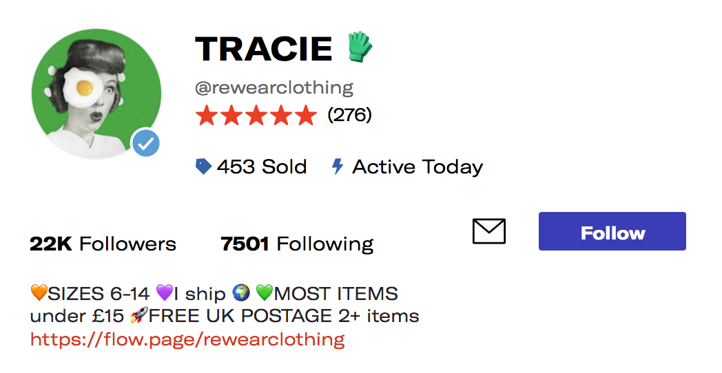 One of the keys to success on Depop: getting good reviews