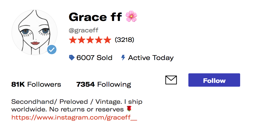 The biggest benefit of depop verified sellers should be the blue tick status