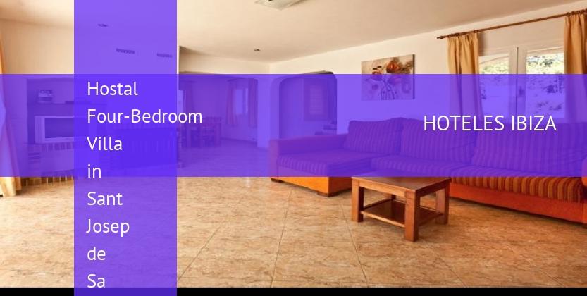 Hostal Four-Bedroom Villa in Sant Josep de Sa Talaia / San Jose with Garden baratos