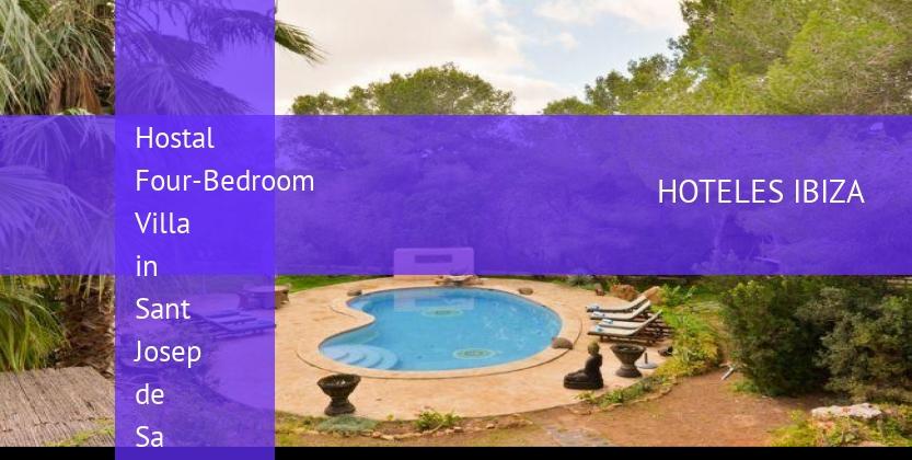 Hostal Four-Bedroom Villa in Sant Josep de Sa Talaia / San Jose with Pool II baratos