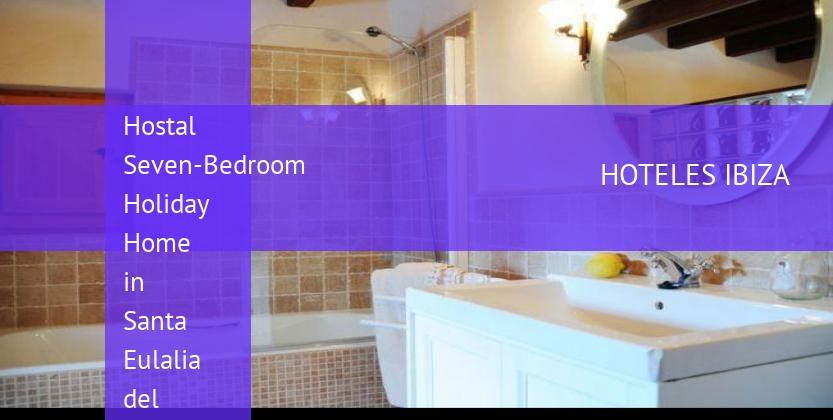 Hostal Seven-Bedroom Holiday Home in Santa Eulalia del Río with Pool barato