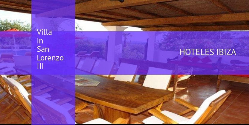 Villa in San Lorenzo III booking