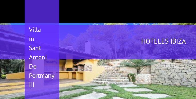 Villa in Sant Antoni De Portmany III reservas