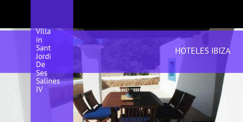 Villa in Sant Jordi De Ses Salines IV reservas