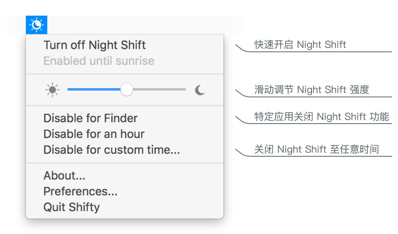 Shifty 状态栏选项