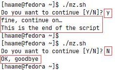 read命令接受指定字符