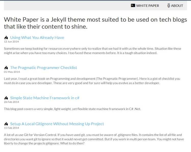 Jekyll Themes