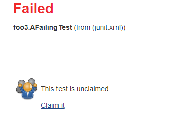"""The """"Claim it"""" action for a test"""