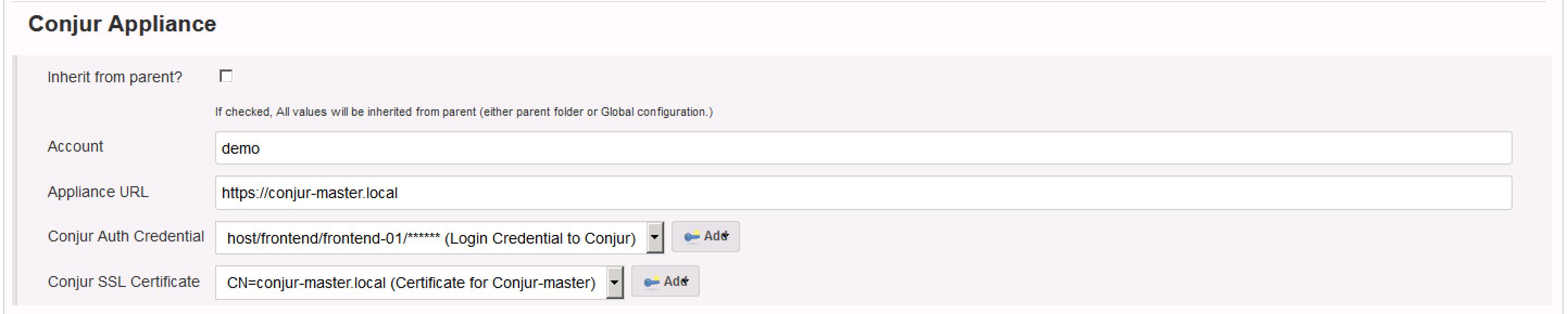 Folder Property Configuration